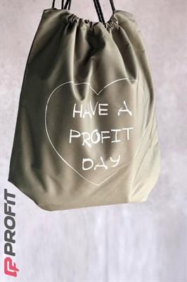 """Рюкзак """"Have a Profit day"""" (Хаки) - фото 4886"""