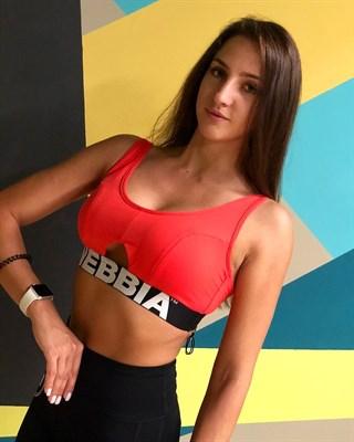 Женский топ Nebbia  695 athletic cut red (M) - фото 5304
