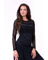 Женский рашград Nebbia Flash-mesh longsleeve shirt 664 black S